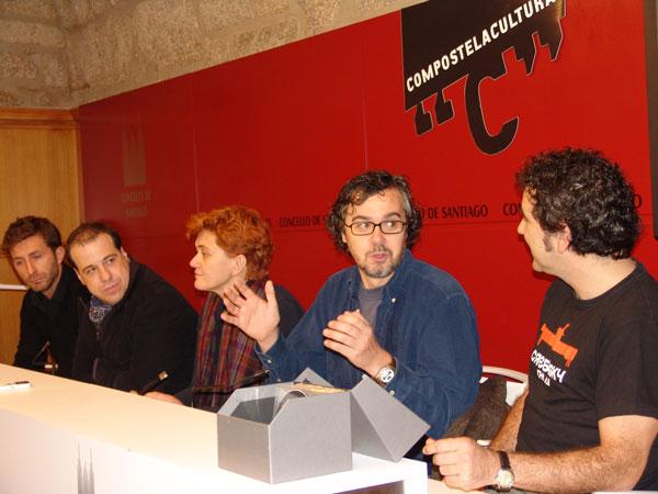 De esquerda a dereita, Farruco Castromán, Enrique Otero, Socorro García Conde, José Luis Losa e Miguel de Lira.