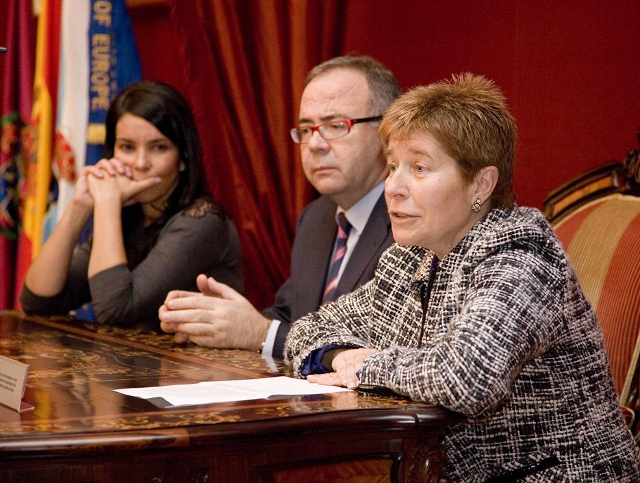 Mercedes Rosón, Xosé A. Sánchez Bugallo e María Dolores Candedo.