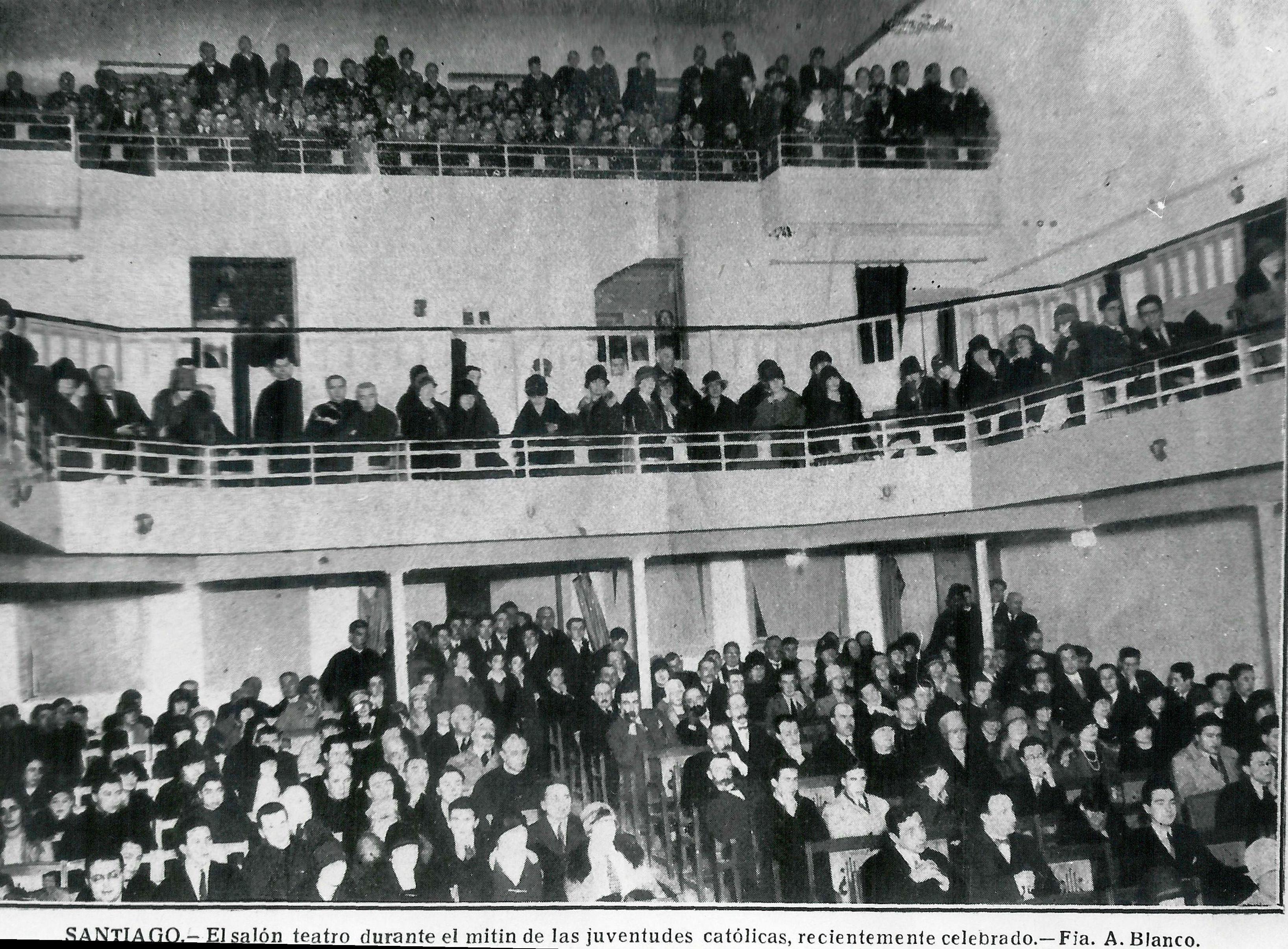 Interior do Teatro en 1926