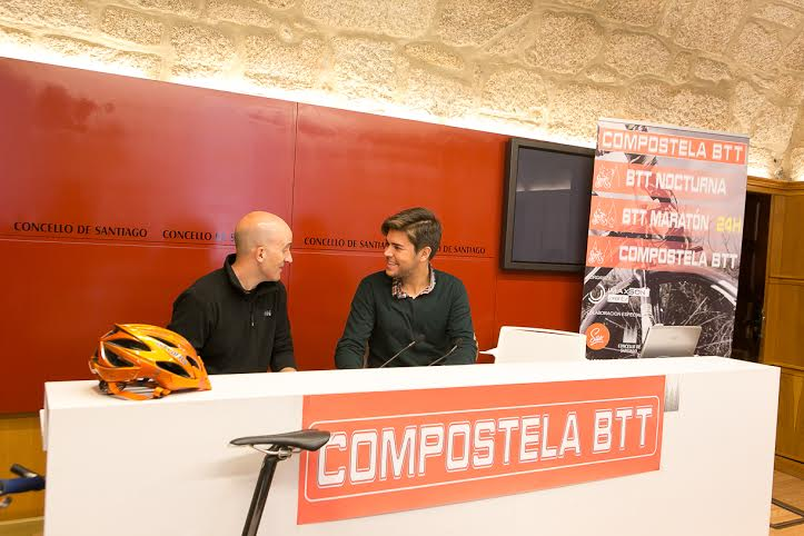 O concelleiro Adrián Varela, presentou a segunda proba da I Compostela BTT