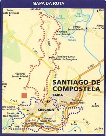 Mapa do recorrido