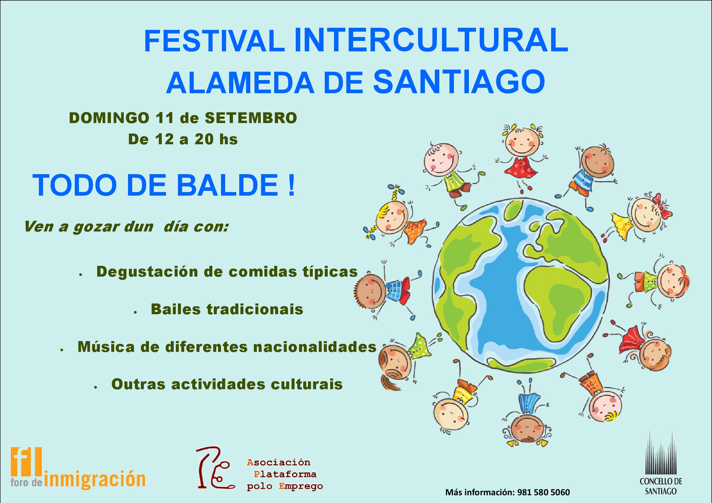 Cartel do Festival Intercultural.