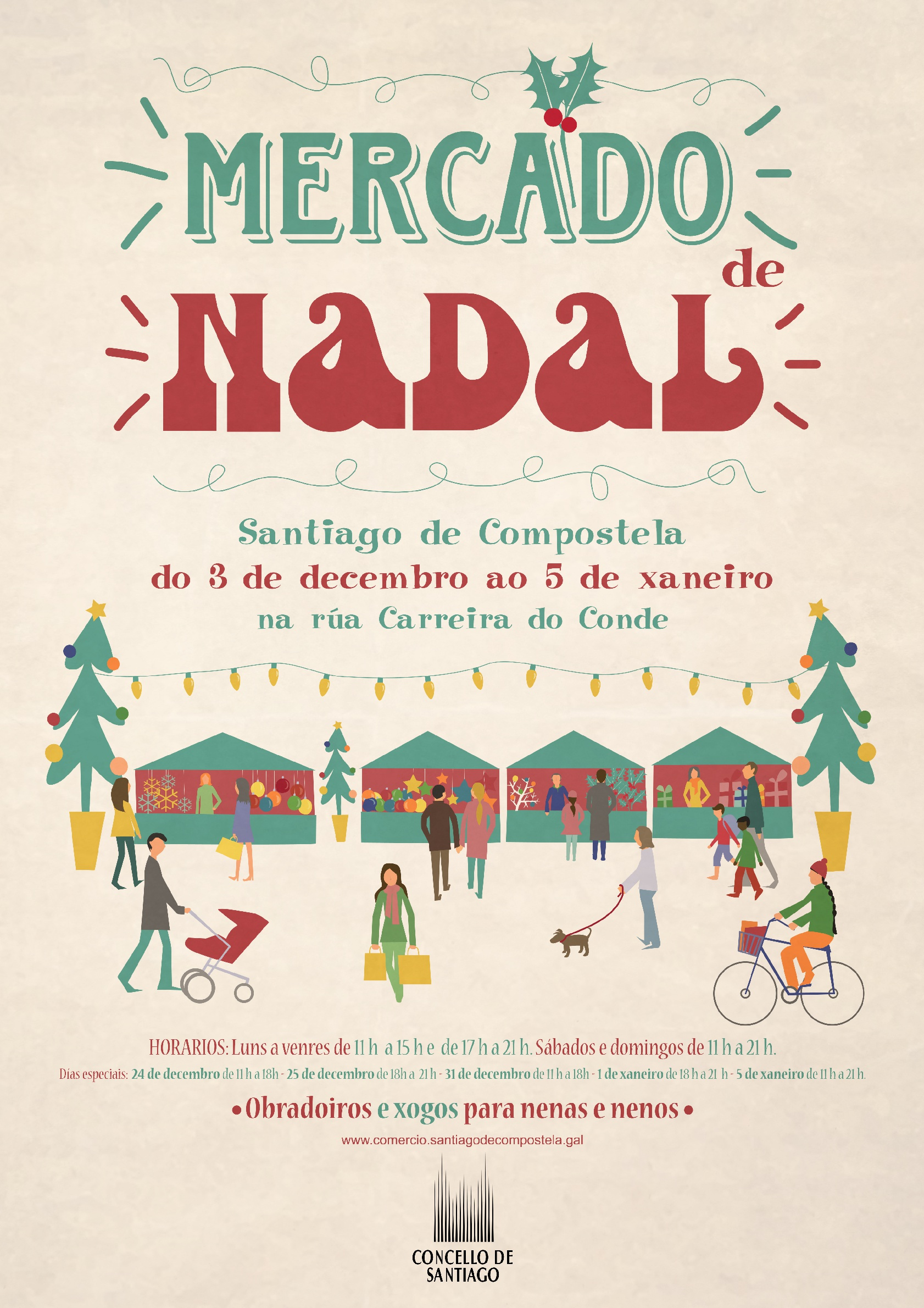 Cartel anunciador do Mercado de Nadal.