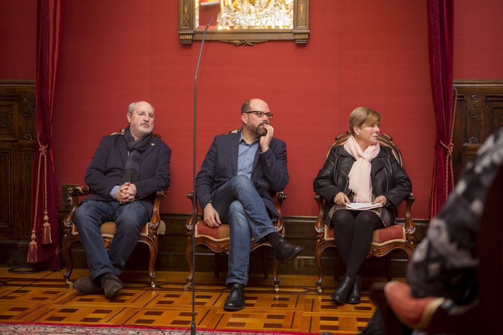 Manuel Dios, Martiño Noriega e María Dolores Candedo.