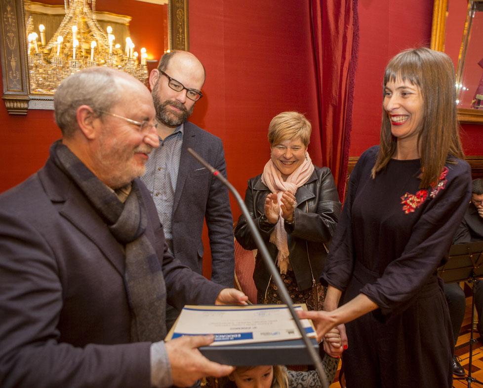 Silvia López foi a terceira clasificada polo seu traballo