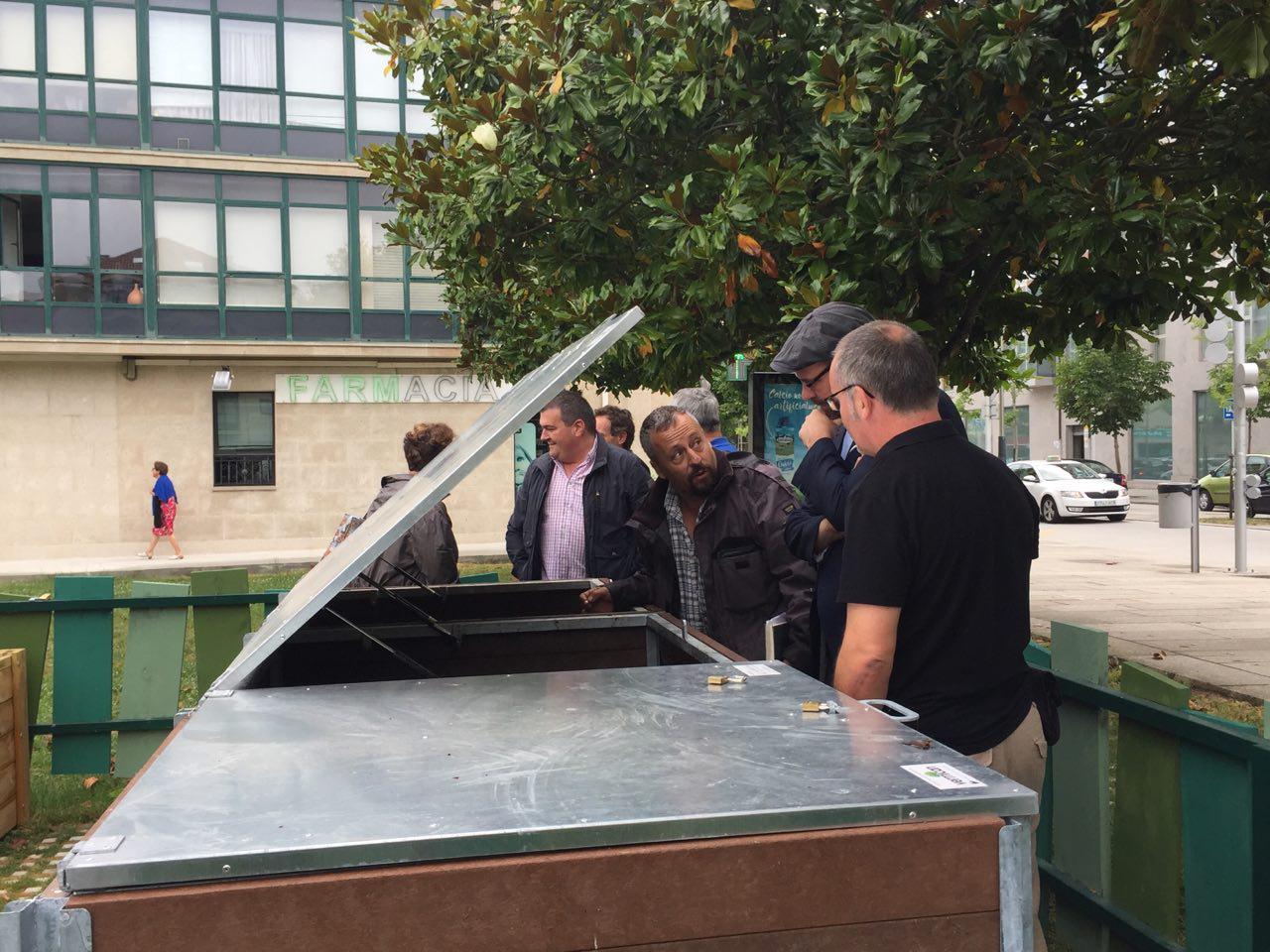 O xefe de Parques e Xardíns explicou o funcionamento dos composteiros