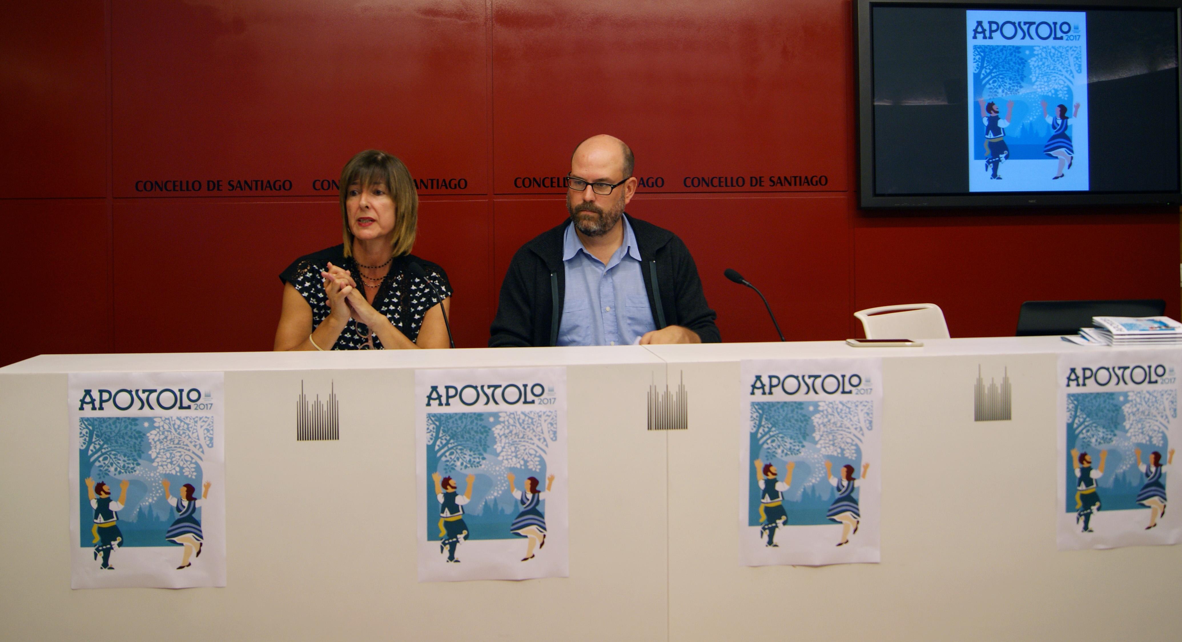 Montse Cillero e Martiño Noriega durante a presentación do programa.