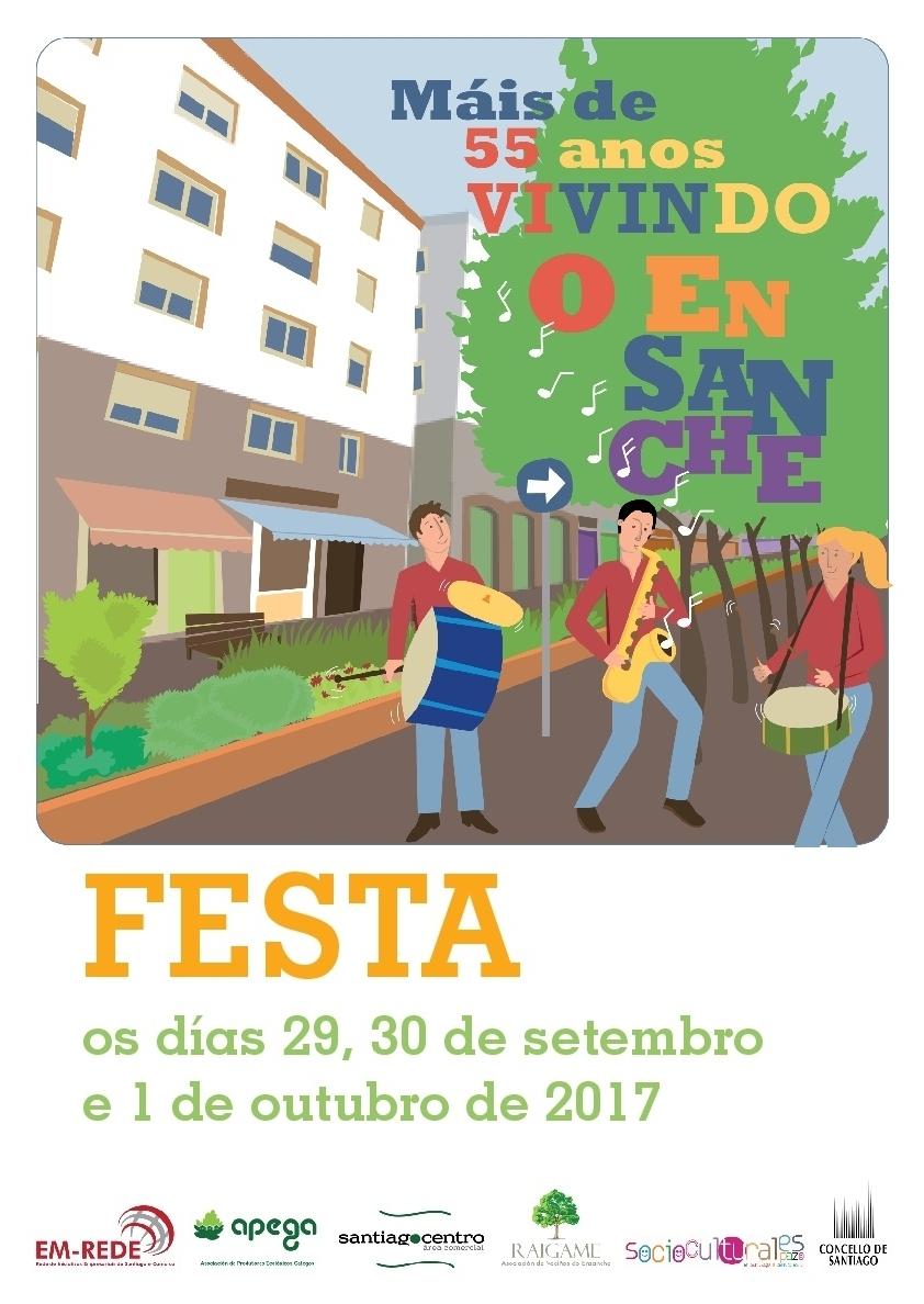 Cartel da Festa do Ensanche.