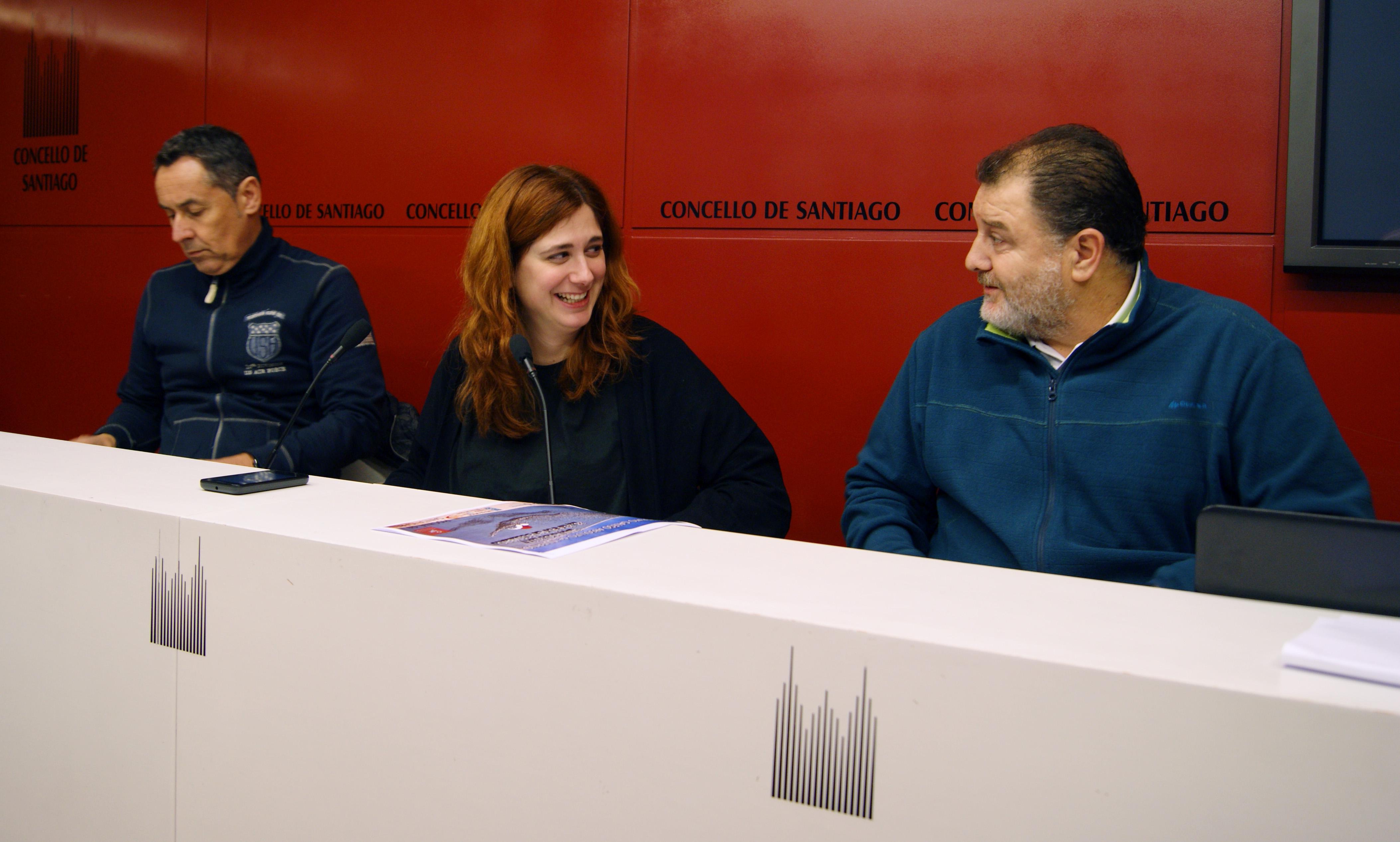 Ramón Mosquera, Noa Morales e José A. Rioseco deron os detalles da proba.