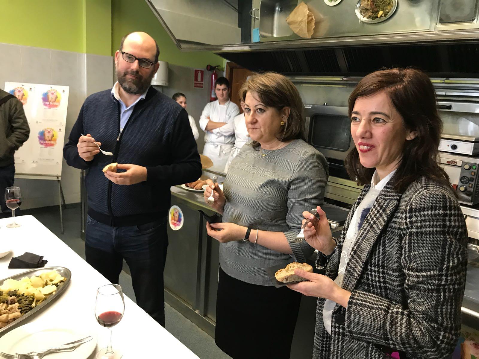 Martiño Noriega, Sara Santos e Marta Lois.