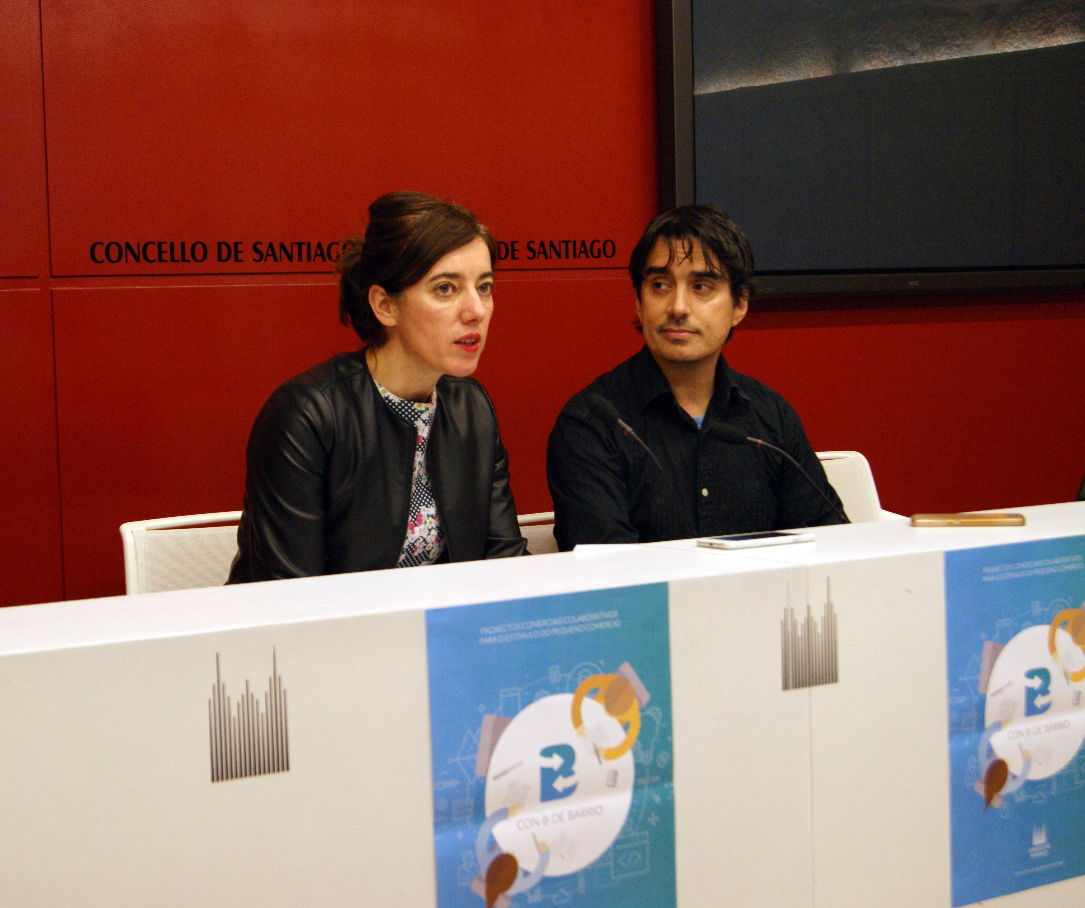 A concelleira Marta Lois e Ángel González, de Edan Xestión.