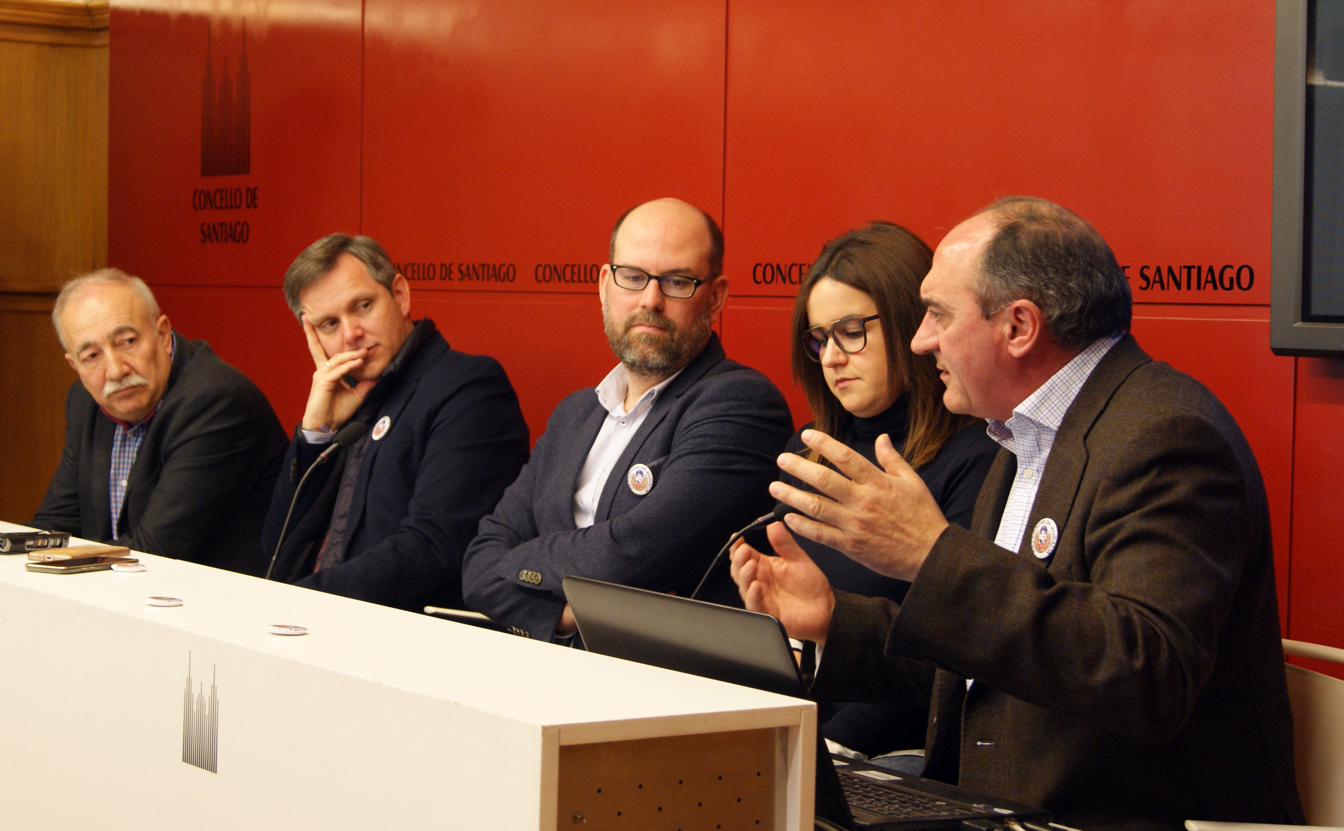 Xosé Luis García, José Miñones, Martiño Noriega, Lorena Couso e Anxo Angueira.