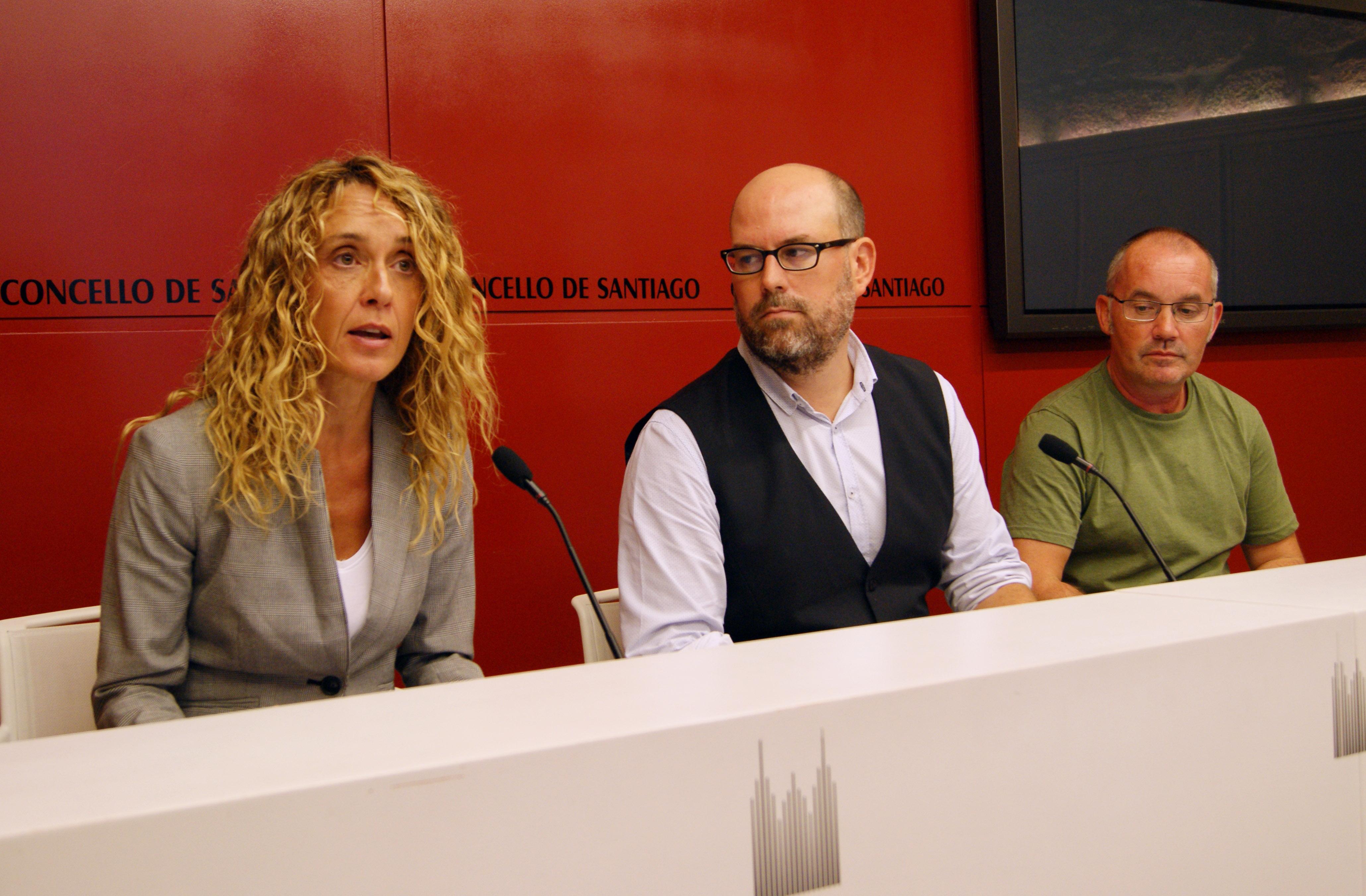 Natalia Zunzunegui, Martiño Noriega e Xan Duro.