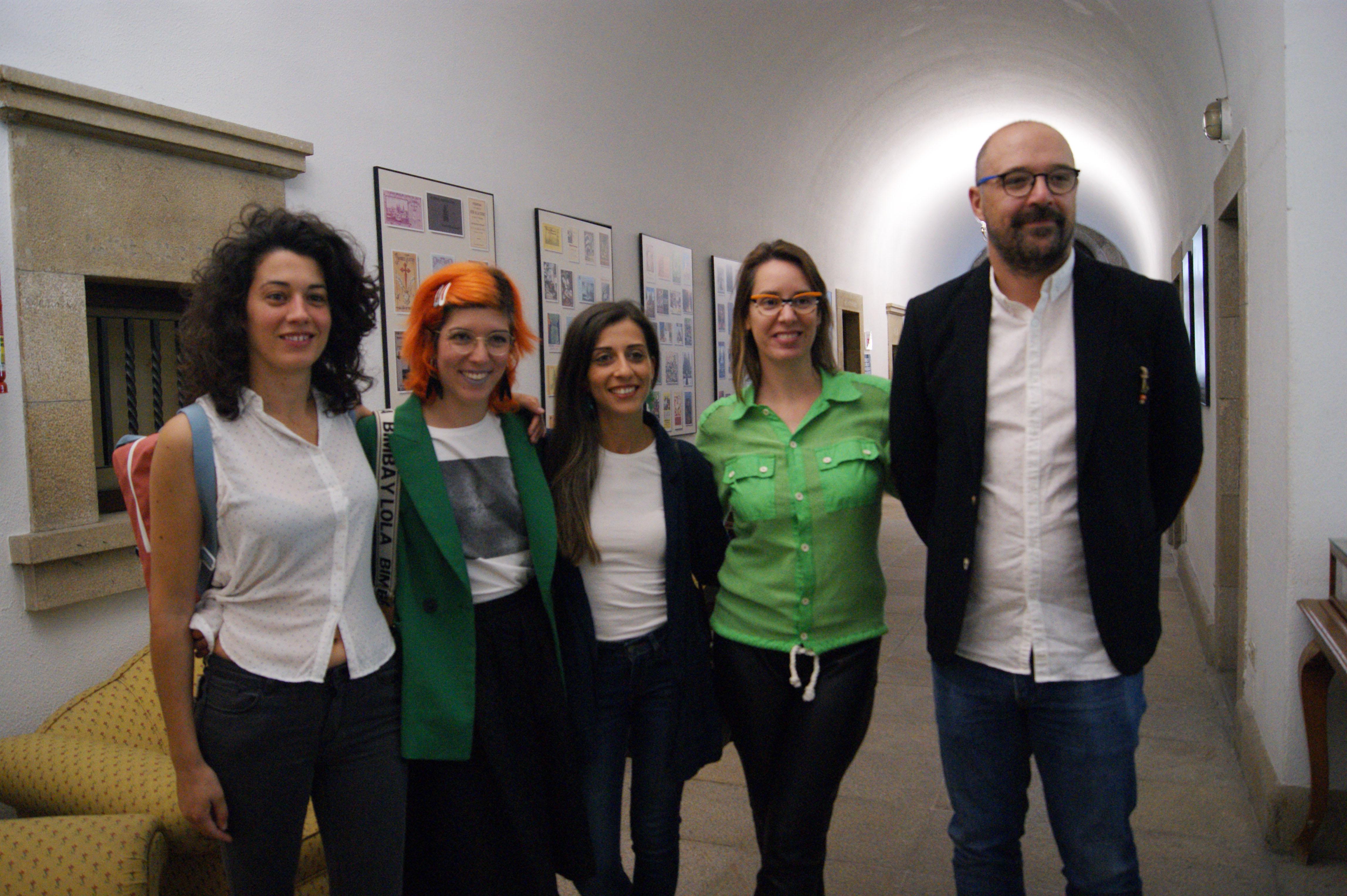 Haya Blanco, Teresa Búa, Mery Pais, Branca Novoneyra e Xaquín López.