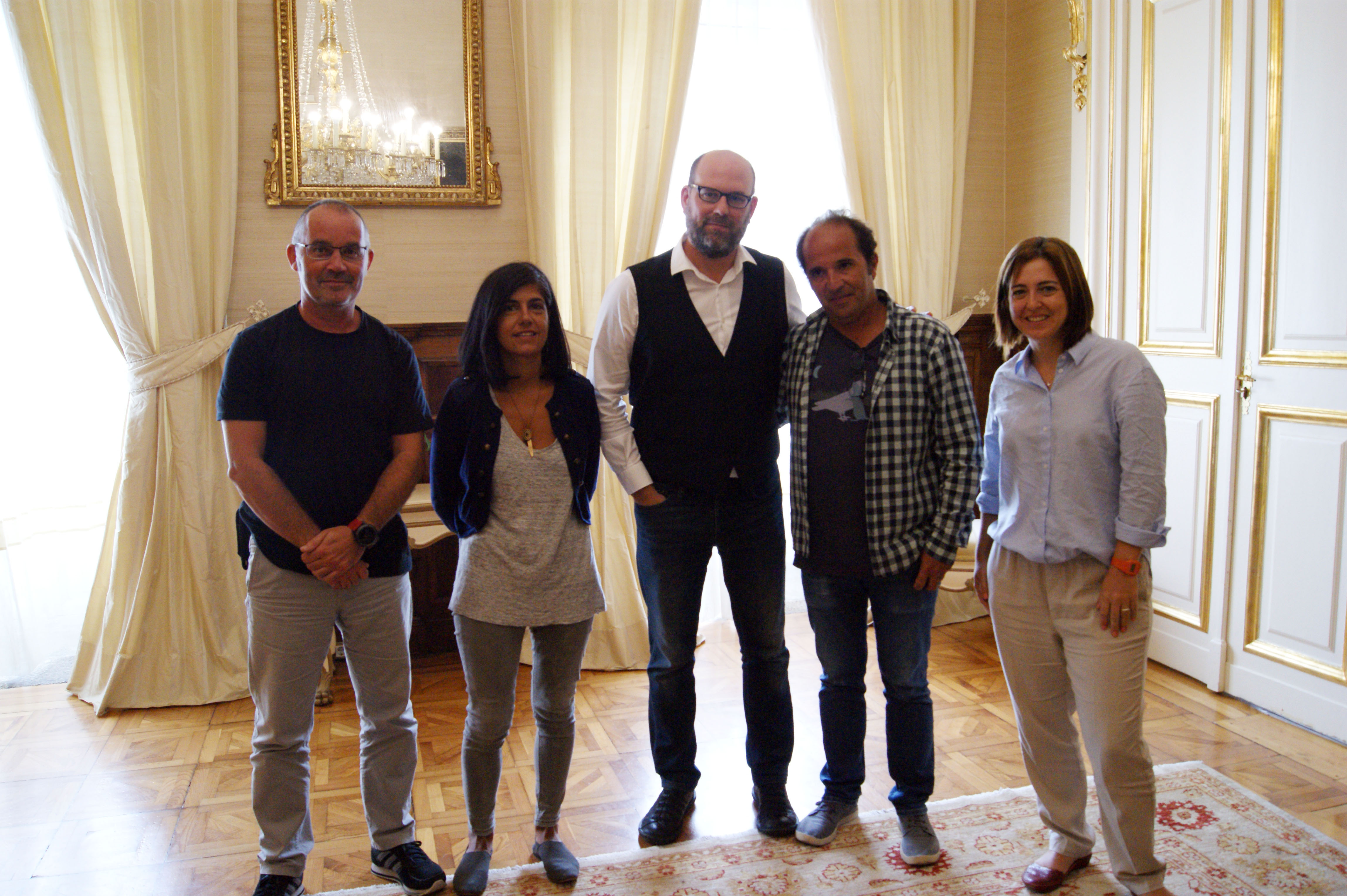 Xan Duro, Cecilia Carballo, Martiño Noriega, Manoel Santos e Celia Ojeda.
