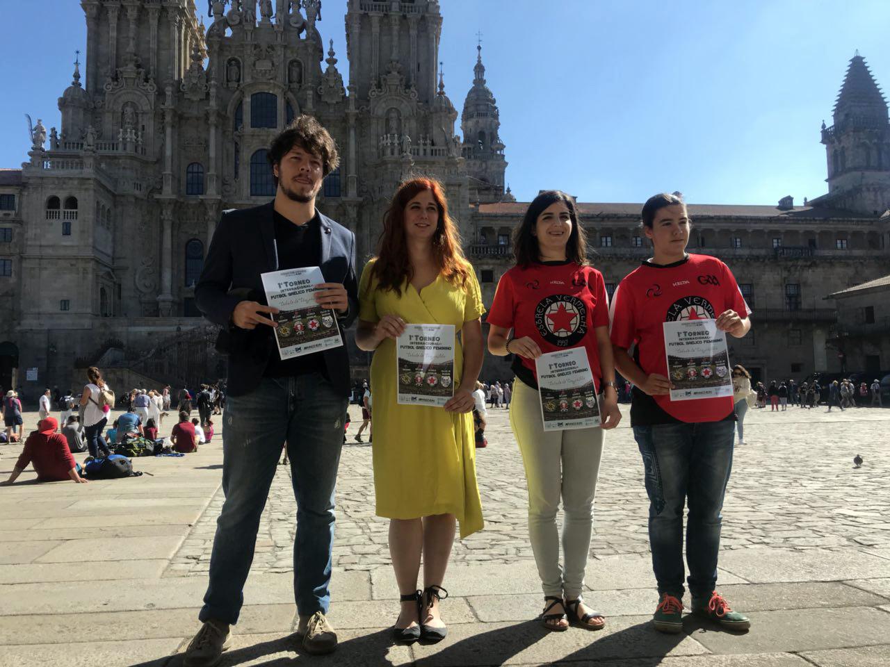 Brais Prieto, Noa Morales, Ánxela Estévez e Uxía Castro.