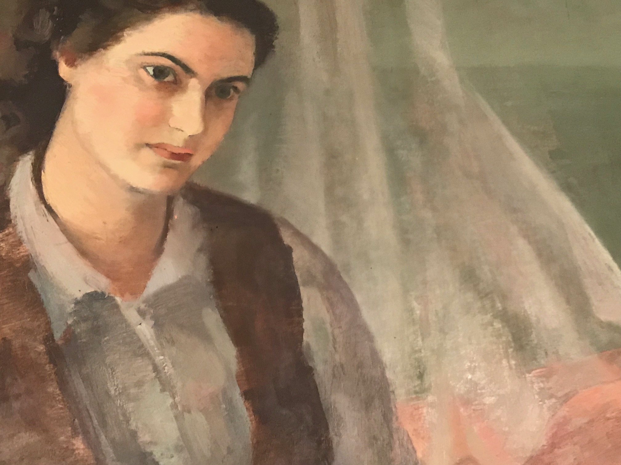 "Detalle da obra ""Mi familia"", de Julia Minguillón."