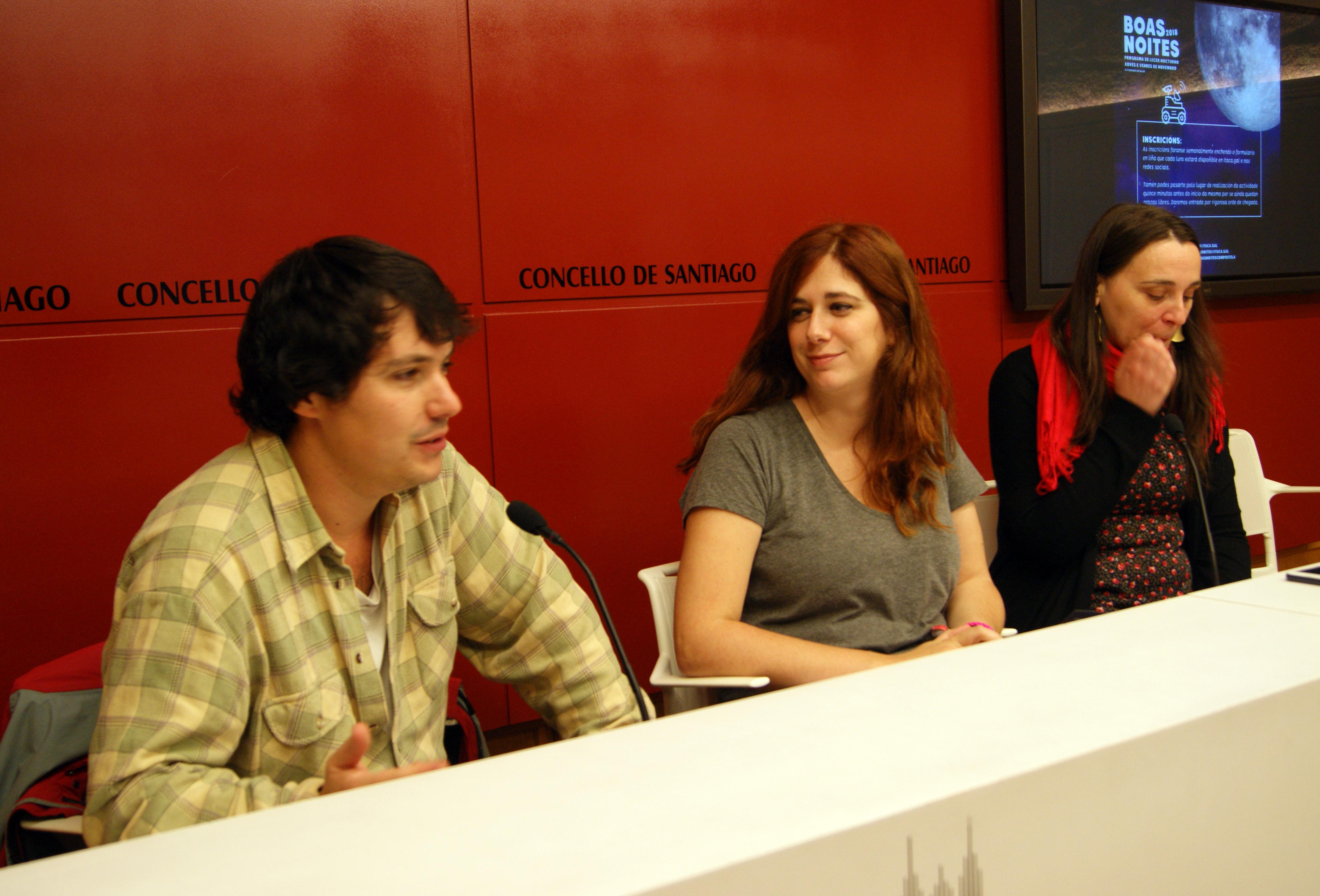 Hadrián Rei, Noa Morales e Nerea Couselo presentaron o programa.