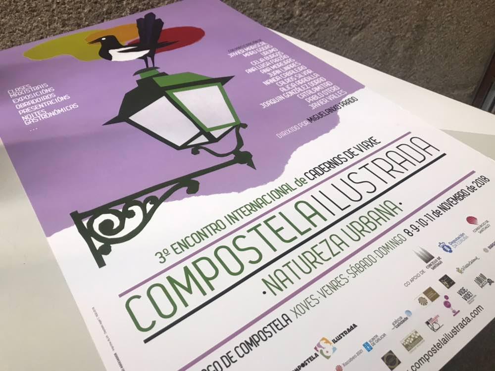 """""""Natureza urbana"""" é o lema desta edición de """"Compostela Ilustrada""""."""