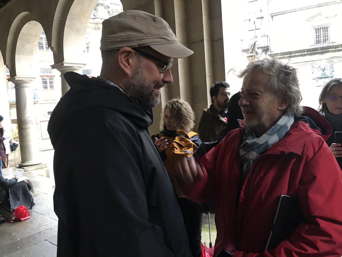 Martiño Noriega con Javier Mariscal.