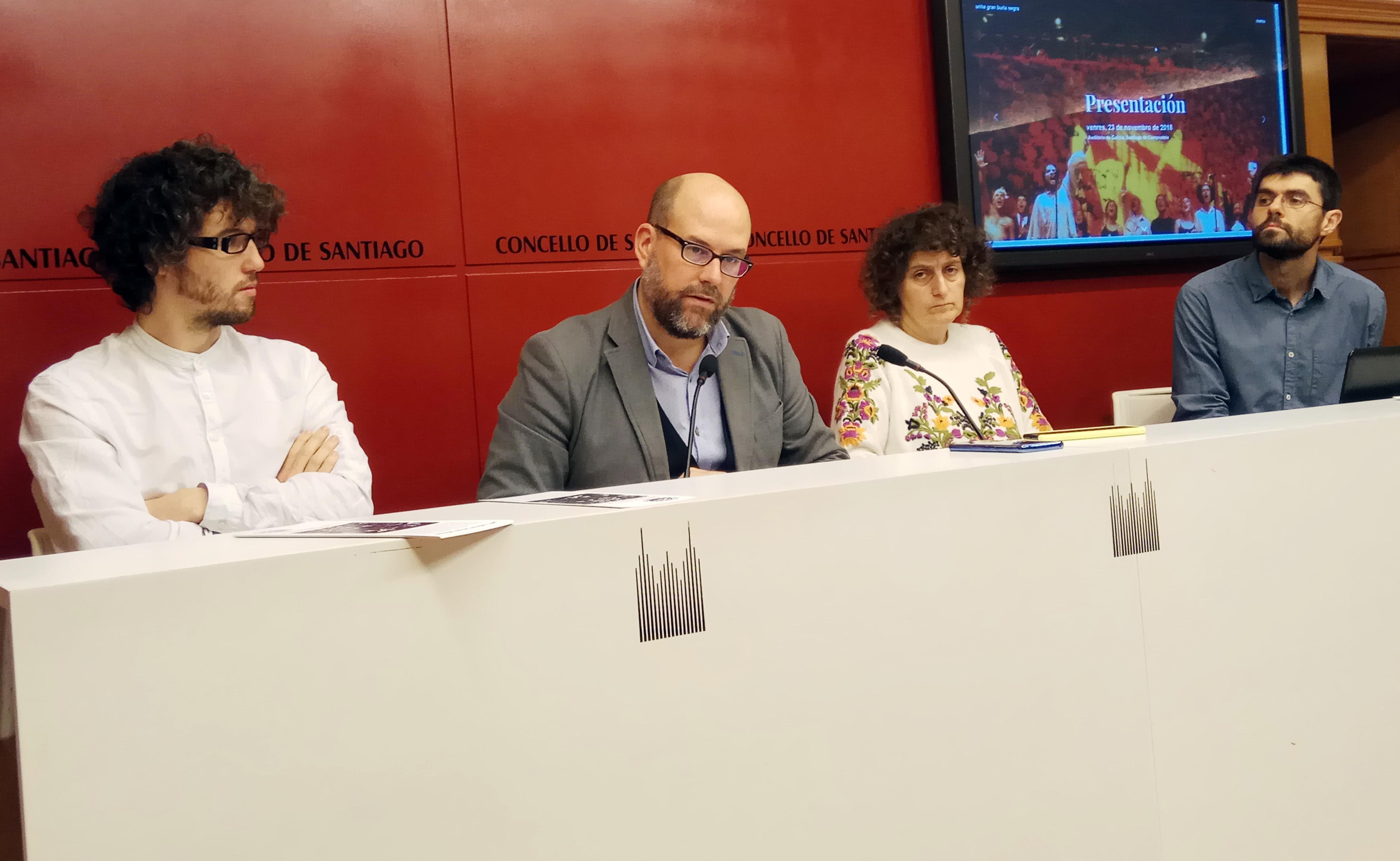 Jorge Linheira, Martiño Noriega, Goretti Sanmartín e Daniel López.
