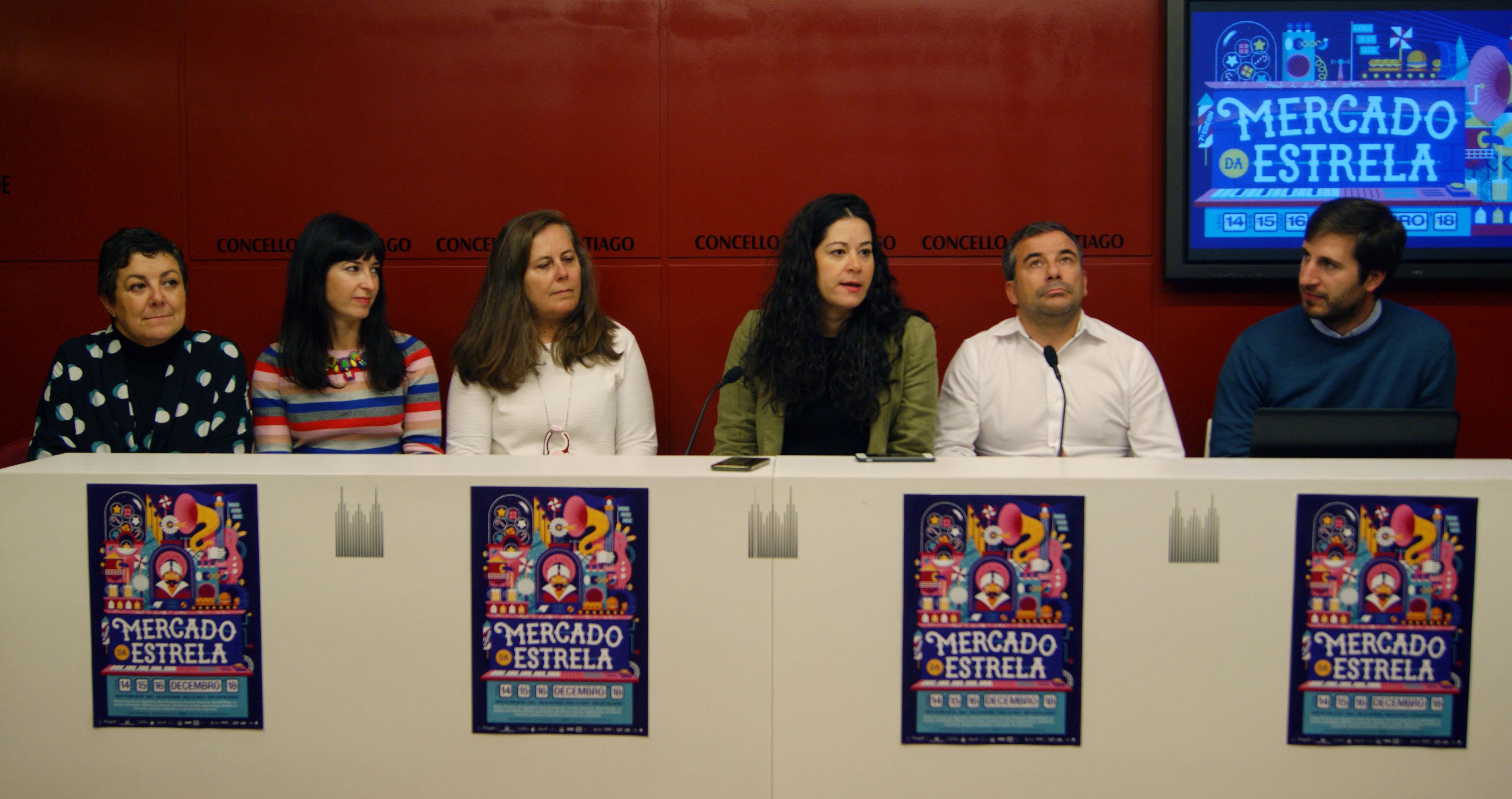 Elena Fabeiro, Mónica Mejías, Flavia Ramil, María Rozas, Pablo Lodeiros e Carlos Carrión.