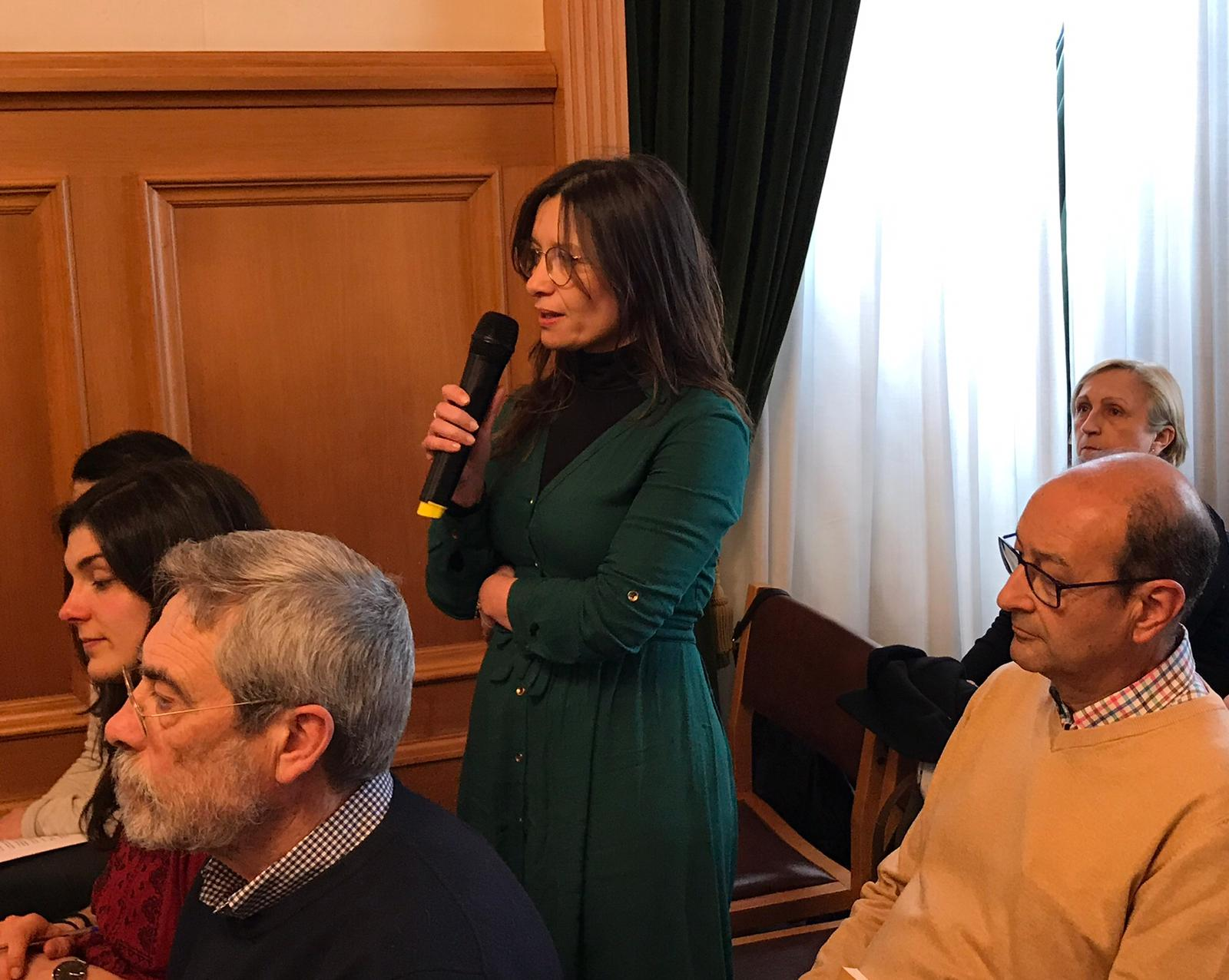 Paula Sánchez, da asociación EM-Rede.