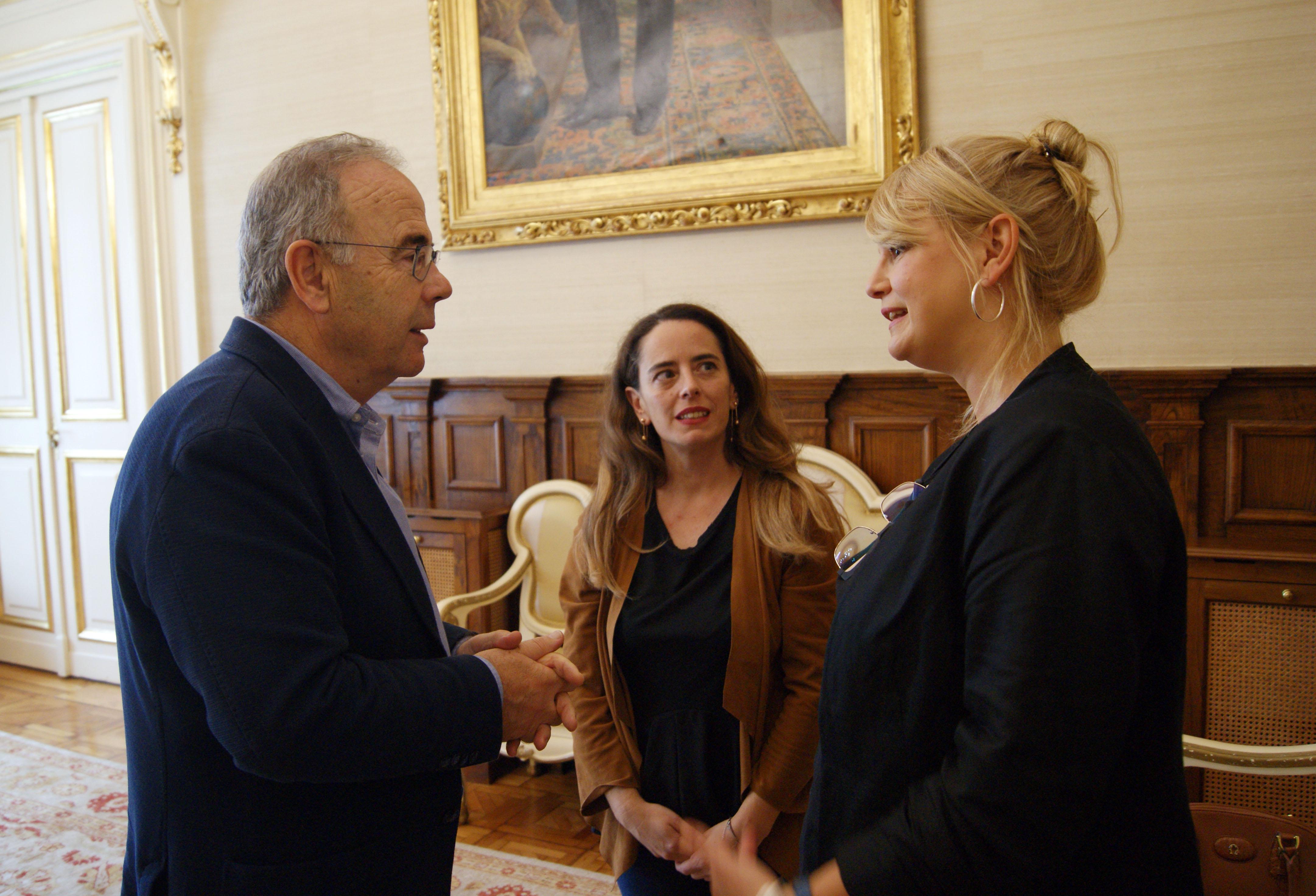 Xosé Sánchez Bugallo, Patricia Blanco e Adriana Pazos.