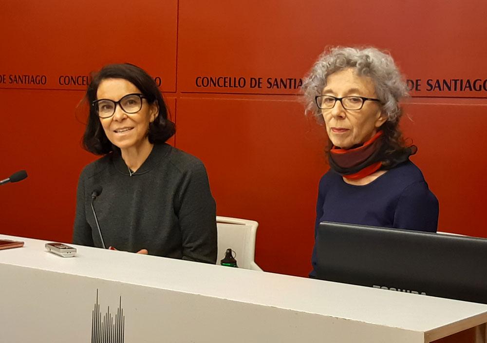Mercedes Rosón e Ana Vallés, na rolda de prensa de presentación do espectáculo