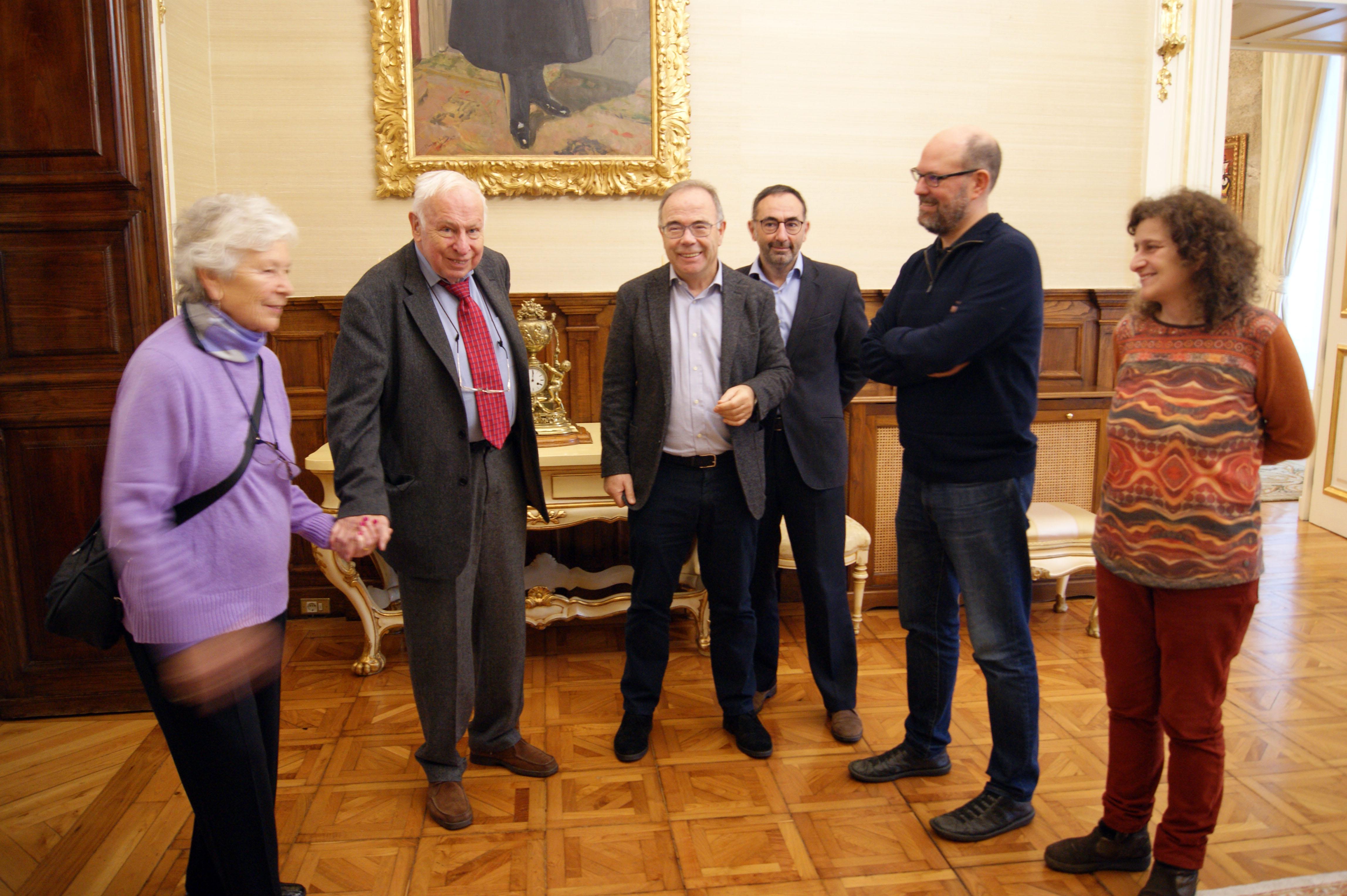 Encontro do alcalde e dos voceiros municipais co científico sueco.