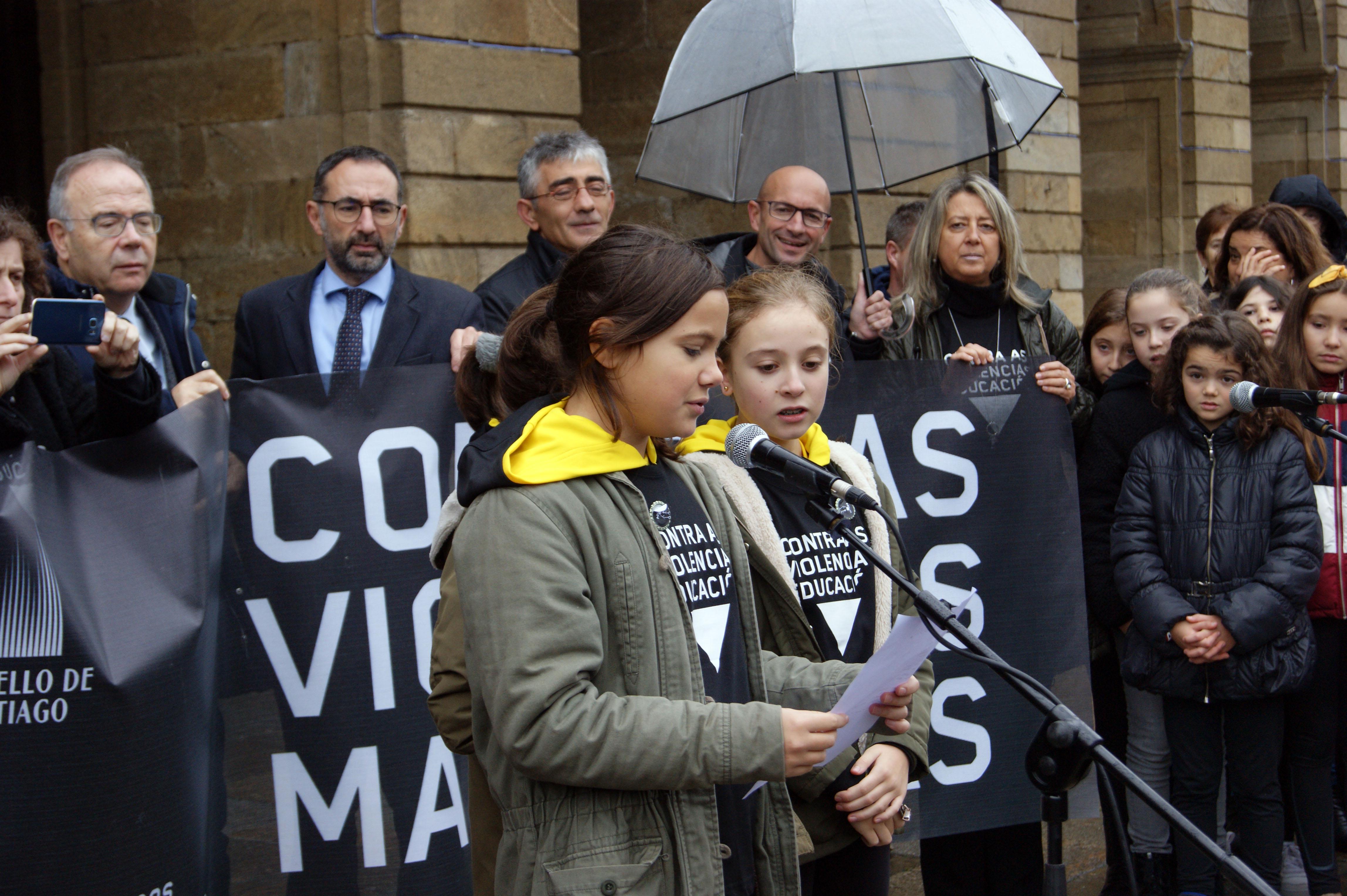 Carla García, Sofía Novais e Mara García, do CPR Vilas Alborada.