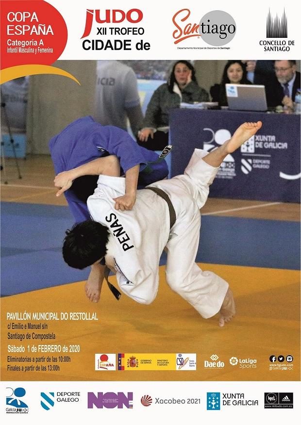 Cartel do Trofeo Cidade de Santiago.