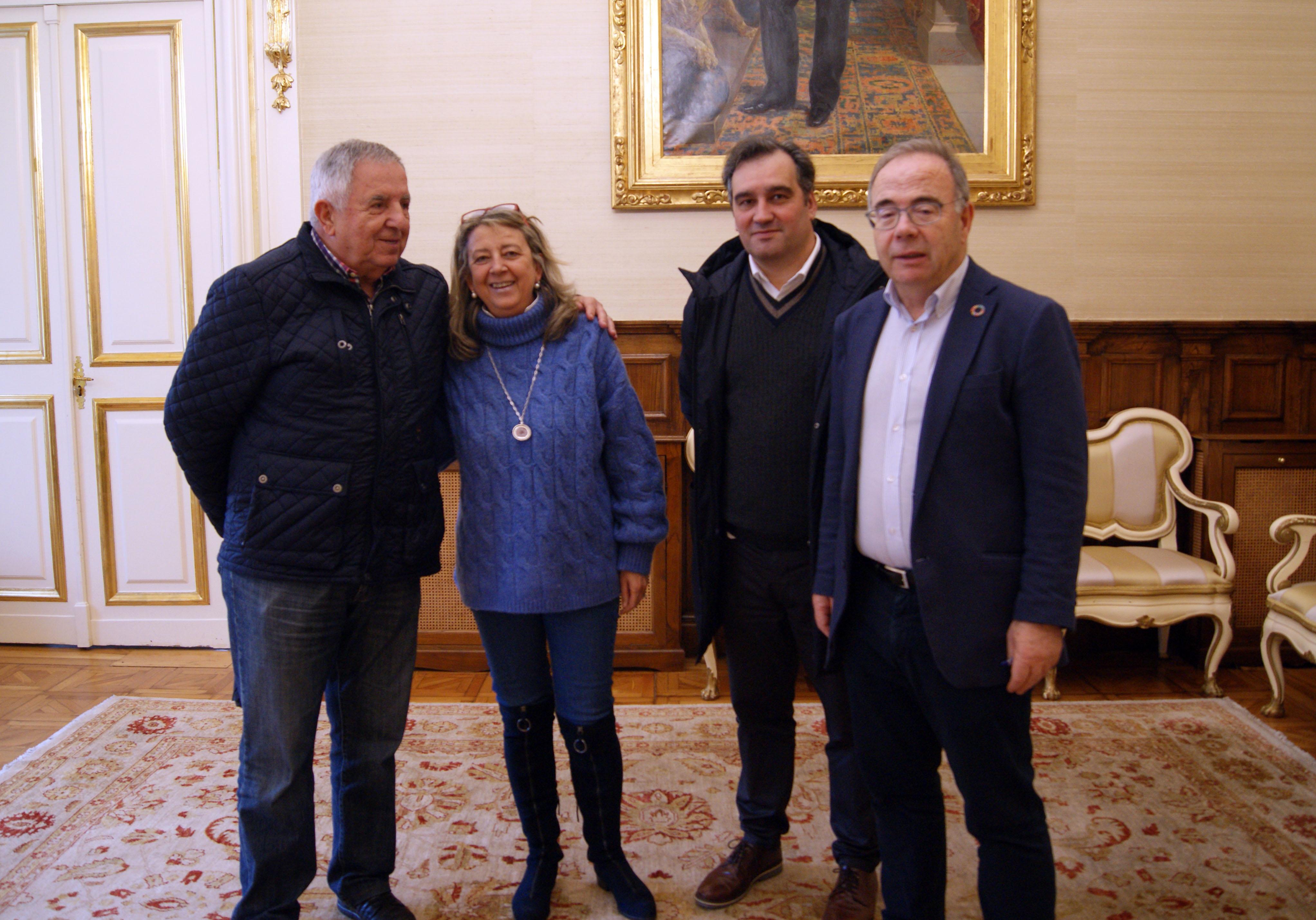 José Canedo, Mila Castro, Carlos Martínez e Xosé Sánchez Bugallo.