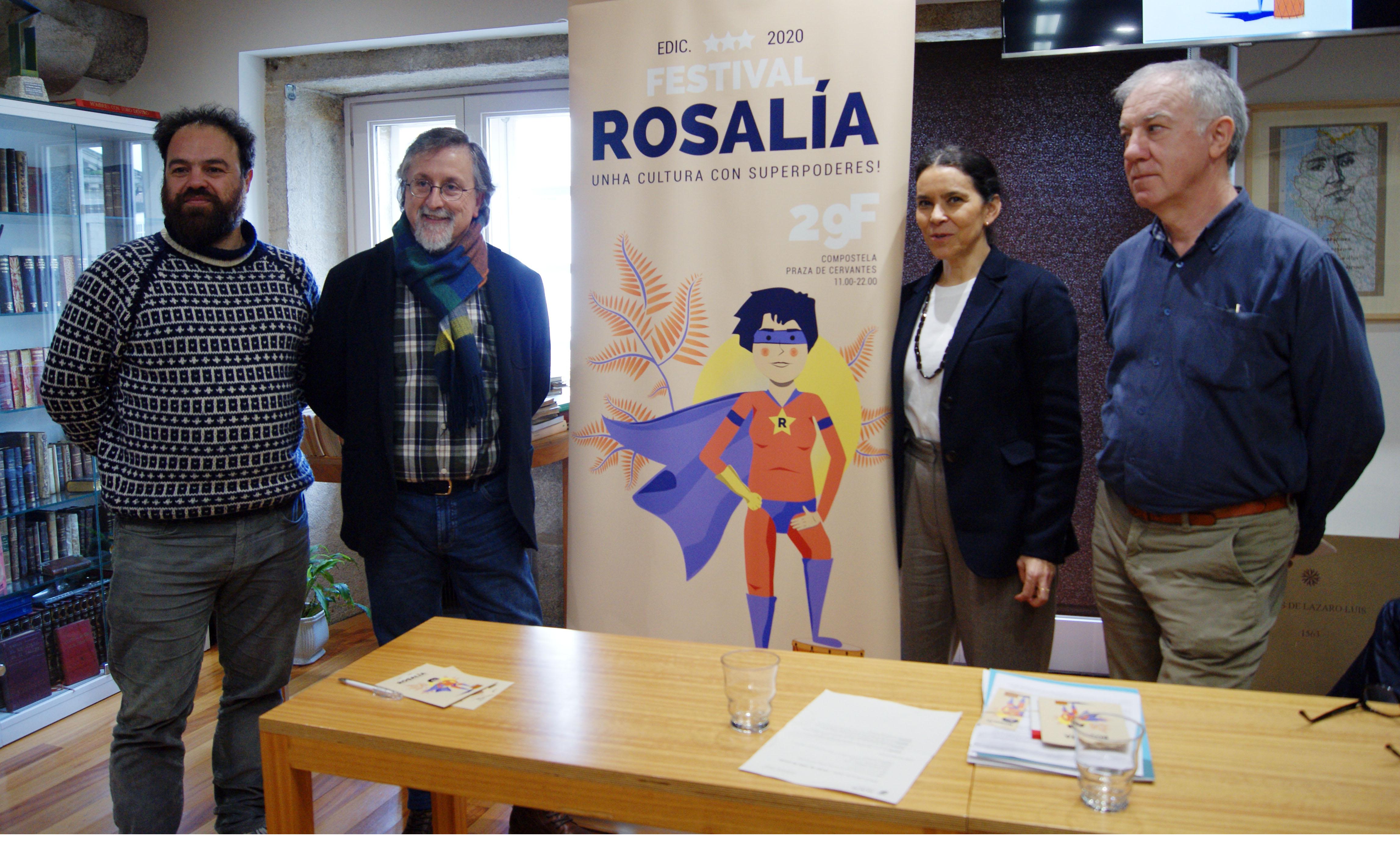 Manuel Roxo, Xurxo Couto, Mercedes Rosón e Manuel Vilar.