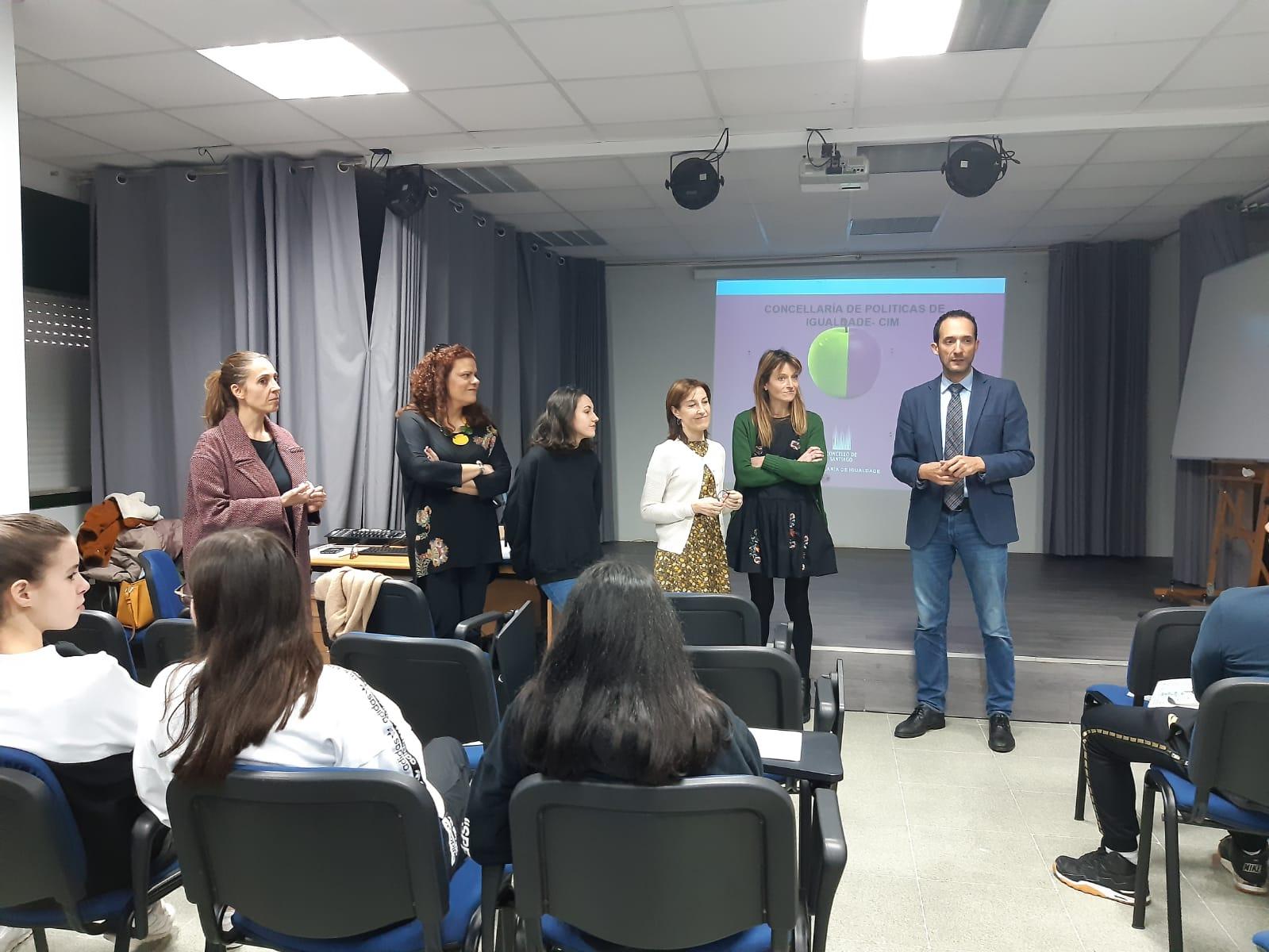 Inicio da actividade no IES Antón Fraguas das Fontiñas.
