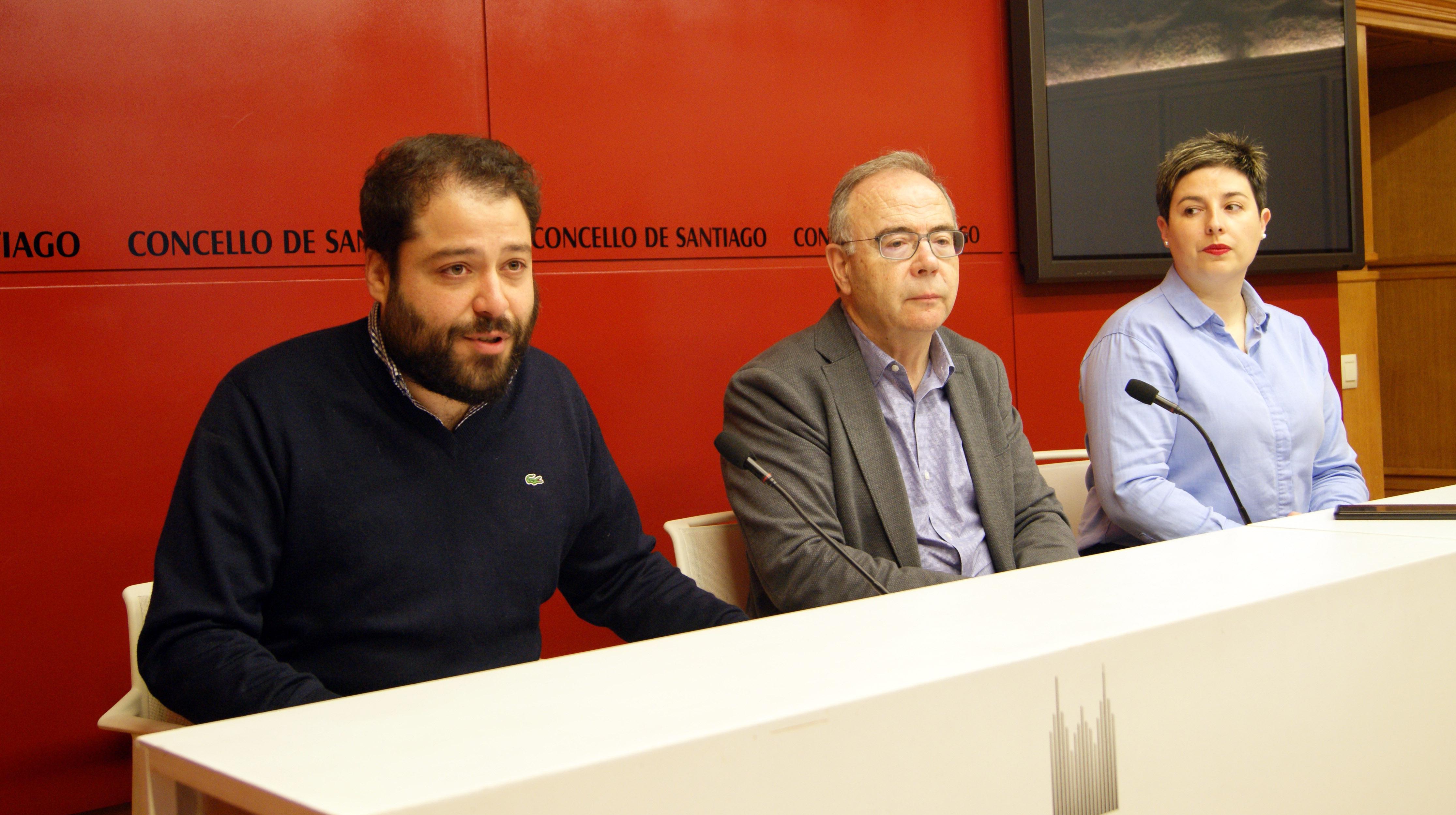 Luciano Covelo, Xosé Sánchez Bugallo e Beatriz Cibreiro.