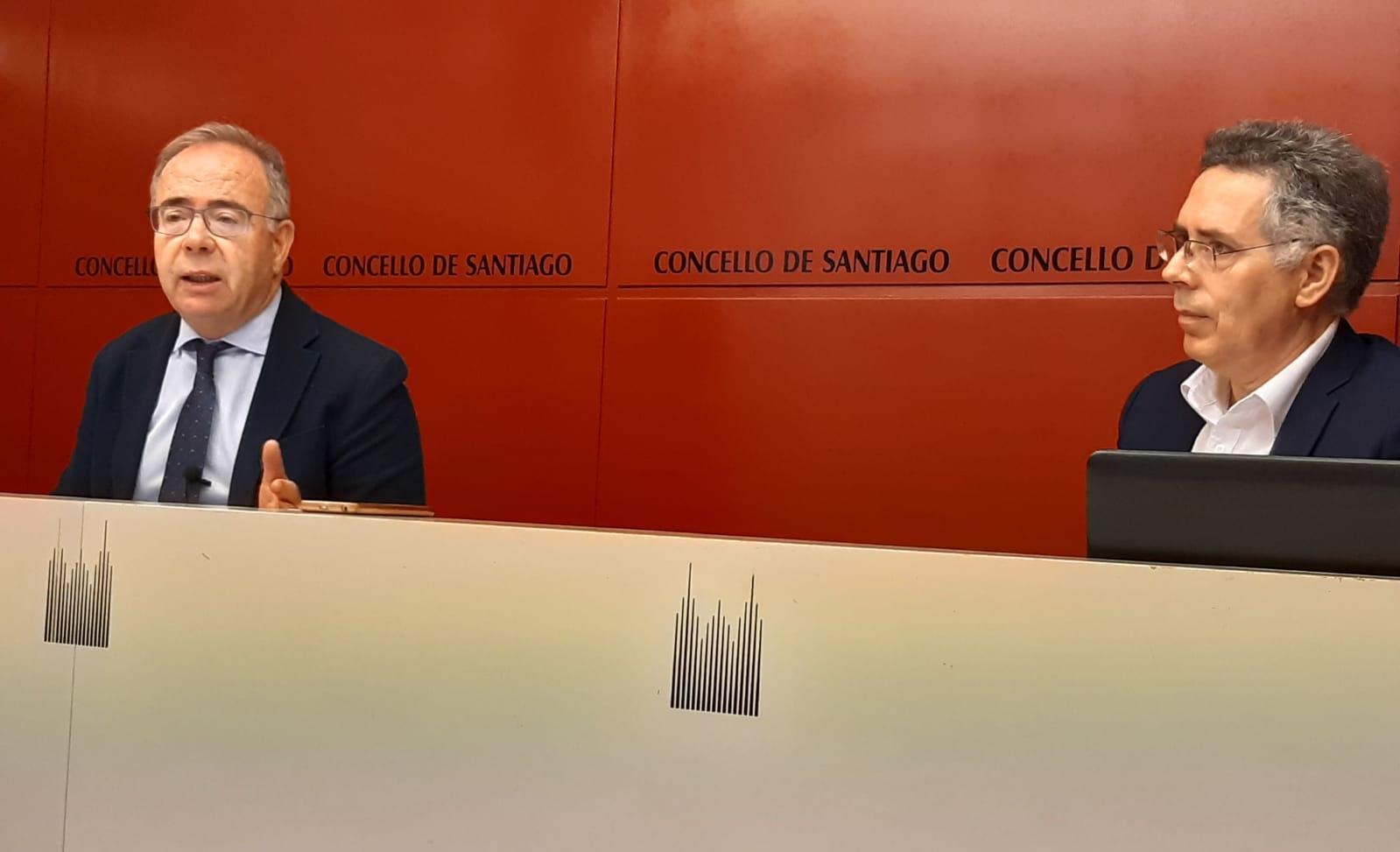 Xose A. Sánchez Bugallo e Xavier Ferreiro na rolda de prensa