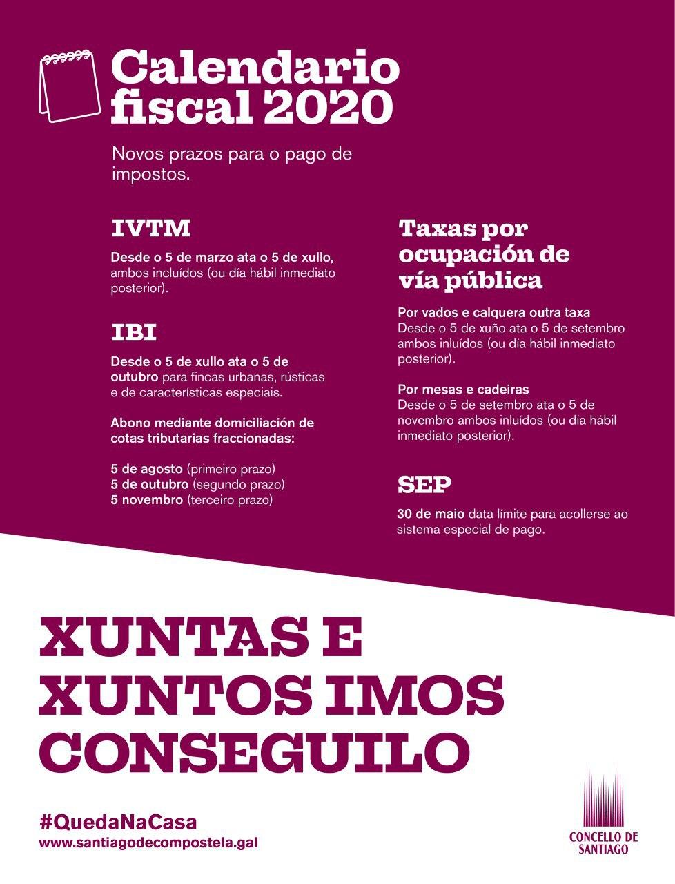 Calendario fiscal 2020.