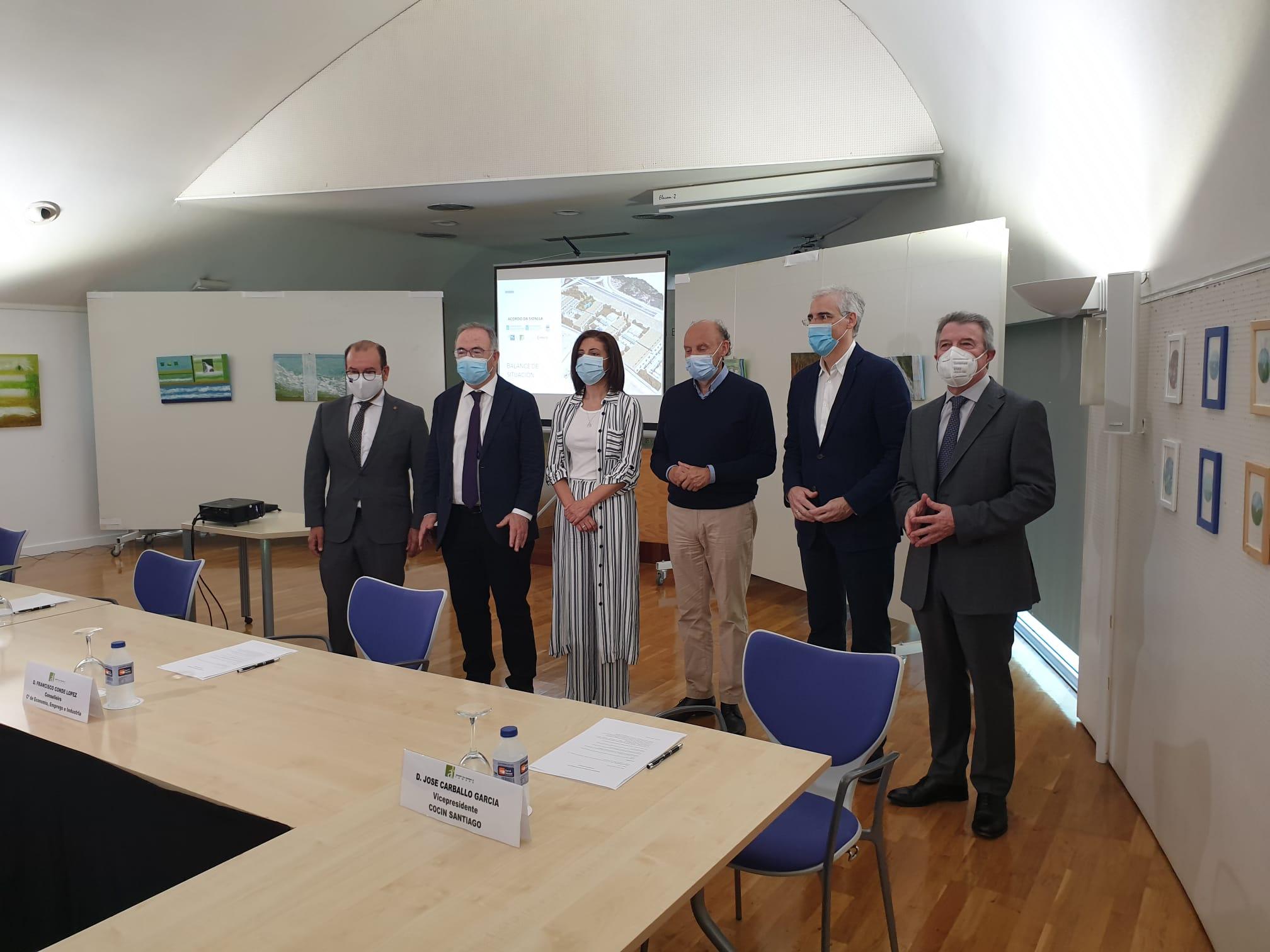"""O Acordo da Sionlla senta as bases da creación do Polo de Innovación en Biotecnoloxía para facer de Santiago e Galicia un """"referente"""" no sector"""