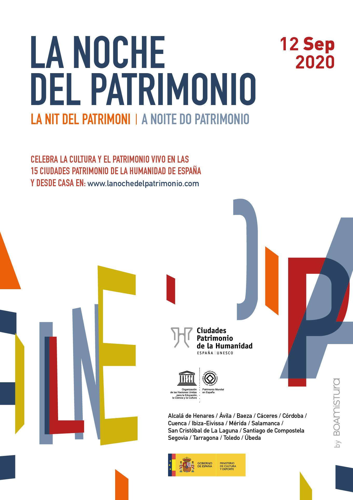 Cartel da Noite do Patrimonio.
