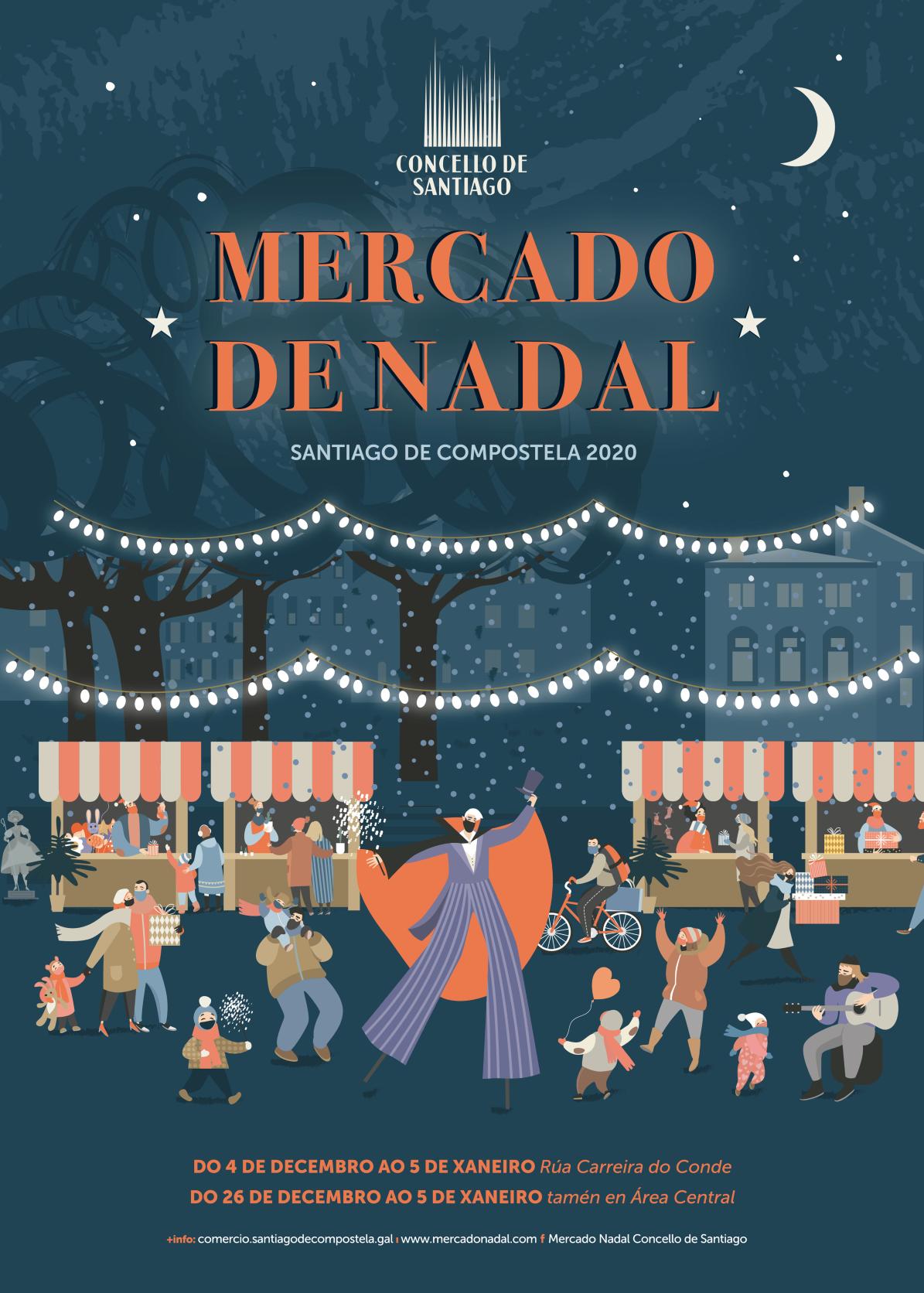 O Mercado de Nadal de Carreira do Conde abrirá o vindeiro venres 4 de decembro ás 17:00 horas