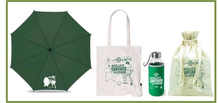 """Novos agasallos da campaña """"Reciclar en Santiago ten premio"""""""