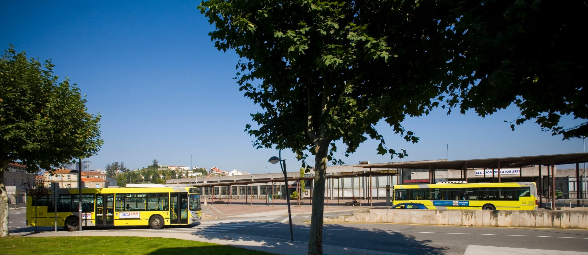Foto de arquivo da antiga estación de autobuses